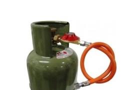 Gasregelaarset met afblaas