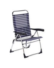 Crespo Strandstoel AL-206 Nytextileen Blauw gestreept (4)