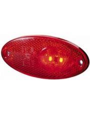 Hella contourlicht inbouw LED rood met reflector 100x45mm
