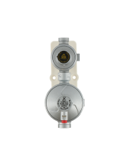 Gimeg LPG 2 traps gasdrukregelaar 30mb 6kg/h 1/4 inch X 3/8 inch