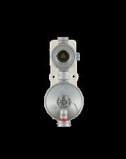 Gimeg LPG 2 traps gasdrukregelaar 50mb 6kg/h 1/4 inch X 3/8 inch