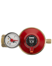 Gimeg gasdrukregelaar afblaasbeveiliging en manometer 30 mbar Kombi X 1/4 inch links