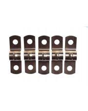 Gimeg pijpzadel 12mm roodkoper (4 stuks )