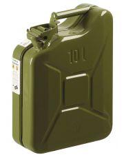 Benzinejerrycan metaal groen 10ltr