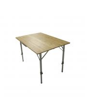 Defa Opvouwbare Tafel bamboe 120 x 72 x 70cm Traploos Verstelbaar
