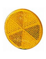 Hella reflector zelfklevend oranje diameter 60mm (1 stuk)
