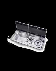 Dometic MO 9722L Kookplaat en Spoelbak