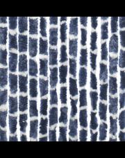 Travellife Chenille streep blauw/wit 56x185cm