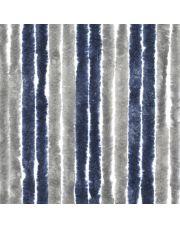 Travellife Chenille Basic grijs/blauw 185x56cm