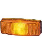 Hella zijmarkeringslicht opbouw oranje met reflector 110x40mm