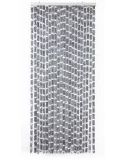 Vliegengordijn gr/wit str 90x220cm