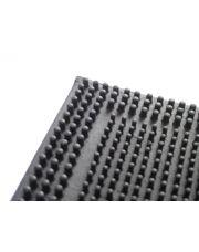Deurmat rubber 4 des/zwa 40x60cm