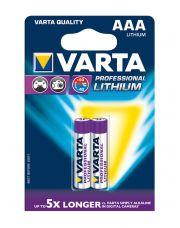Varta Lithium Proff.1,5V AAA ZB/2**
