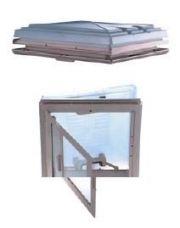 MPK dakluik met combihor melkwit glas 40x40
