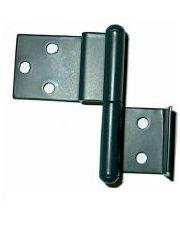 Metalen klapscharnier - rechts 55 mm bovendeel 27 x 42 mm en onderdeel 25 x 24 mm BRUIN