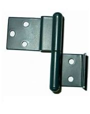 Metalen klapscharnier - rechts 55 mm bovendeel 27 x 42 mm en onderdeel 25 x 24 mm GRIJS